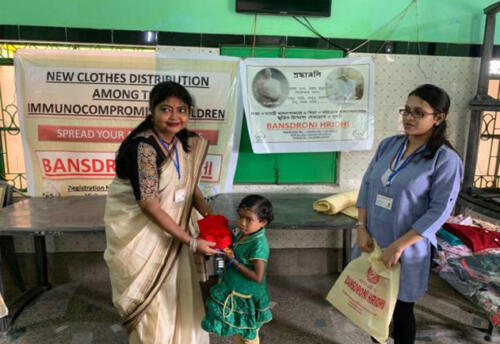 New Garment distribution among the immune compromised children - Bankura and Purulia district of West Bengal
